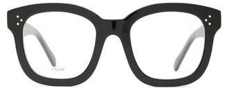 Celine Oversized Acetate Glasses - Womens - Black