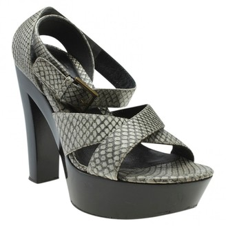 Alexander McQueen Grey Exotic leathers Sandals