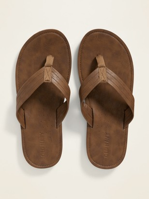 Old Navy Faux-Leather Flip-Flops for Men