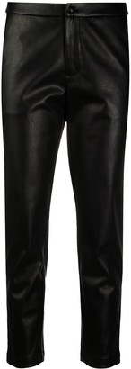 Liu Jo Faux Leather Cropped Trousers