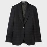Paul Smith Women's Black Tonal-Check Wool Blazer