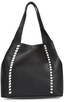 French Connection Del Faux Leather Tote - Black