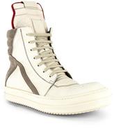 Rick Owens Geobasket Sneaker in Off White   FWRD