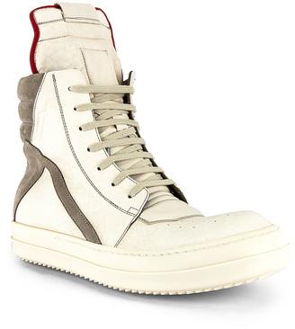 Rick Owens Geobasket Sneaker in Off White | FWRD