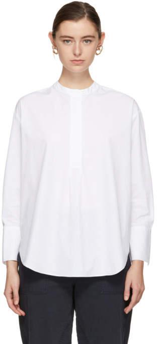 YMC White Summer Poplin Dorothy Shirt