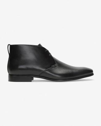 Express Leather Dressy Chukka Boots