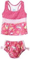 I Play Girls' Pink Paisley Mix 'n Match Swim Diaper Tankini Set (6mos3yrs) - 8114117