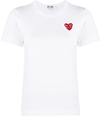 Comme des Garcons double heart embroidered T-shirt