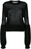 McQ by Alexander McQueen knit exaggerated sleeve top - women - Wool - XS