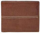 Fossil Men's 'Turk' Leather Rfid Wallet - Brown