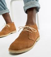 Asos Design DESIGN Wide Fit desert chukka boots in tan suede
