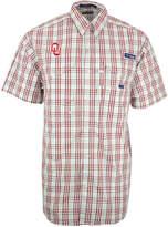 Columbia Men's Short-Sleeve Oklahoma Sooners Button-Down Shirt