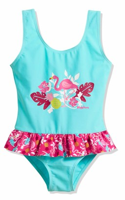 Playshoes Girl's UV Sun PRedection Swimsuit Bathing Suit Flamingo