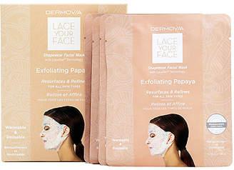 Dermovia Exfoliating Papaya Lace Your Face Mask 4 Pack