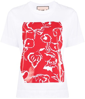 Plan C high-shine print T-shirt