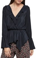 BCBGeneration Ruffle-Trimmed Crossover Top