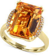 Effy Sunset by Citrine (7-1/5 ct. t.w.) and Diamond (1/8 ct. t.w.) Statement Ring in 14k Gold