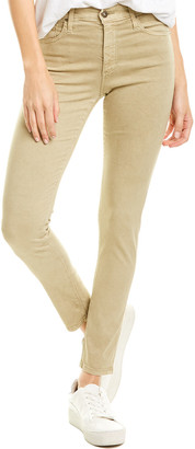 AG Jeans The Farrah Sulfur Dried Patchouli High-Rise Skinny Ankle Cut