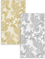 Bed Bath & Beyond Lace Royal 15-Count Paper Guest Towels in Silver