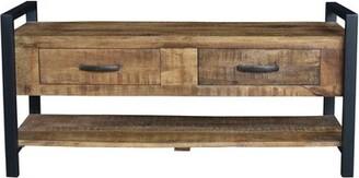 Union Rustic Hanks Wood Storage Bench Union Rustic