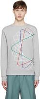Carven Grey & Multicolor Spiral Sweatshirt