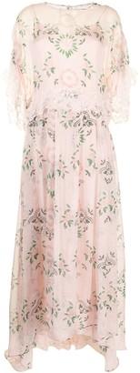 Ermanno Scervino Floral Print Flared Dress