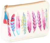 Riah Fashion Feather Mix Cosmetic Pouch