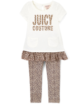 Juicy Couture Off-White Tunic & Leopard Leggings - Girls