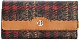 Giani Bernini Plaid Block Signature Receipt Wallet