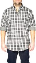 Haggar Men's Long Sleeve Heather Plaid Flannel Shirt