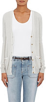 Barneys New York Women's Tipped Cashmere Cardigan-LIGHT GREY