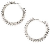 Topshop Women's Filigree Trim Hoop Earrings