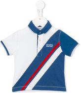 Boss Kids striped polo shirt