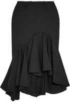 Facetasm Ruffled Wool-crepe Midi Skirt