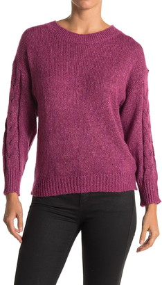 Wit & Wisdom Keyhole Back Cable Knit Sweater