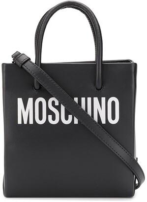 Moschino Logo Printed Mini Tote Bag
