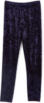 Speechless Navy Velvet Straight-Leg Pants - Girls
