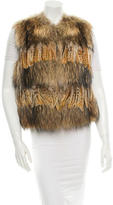 Michael Kors Fur and Feather Vest w/ Tags