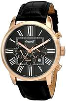 Ingersoll unisex Automatic Watch with Black Dial Chronograph Display and Black Leather Strap IN1409RBK