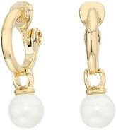 Lauren Ralph Lauren Clip Hoop w/ Drop Earrings (Gold) Earring