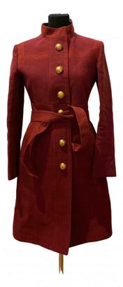 Gucci Burgundy Linen Coats