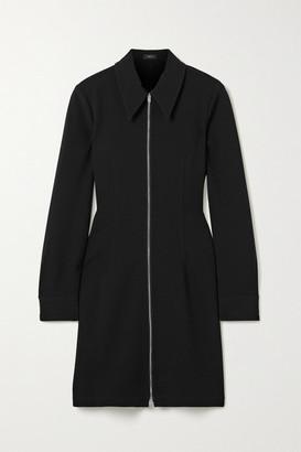 Theory Crepe Mini Dress - Black
