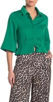 Gracia Waist Buckle Bell Sleeve Shirt (Regular & Plus Size)