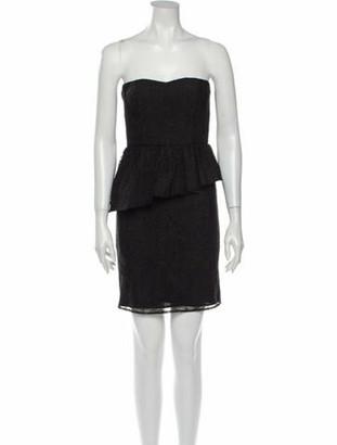 Alice + Olivia Polka Dot Print Mini Dress w/ Tags Black