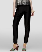 Cropped Ankle-Zip Pants