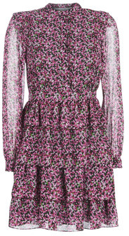 MICHAEL Michael Kors FLORAL SHIRT DRESS women's Dress in Multicolour