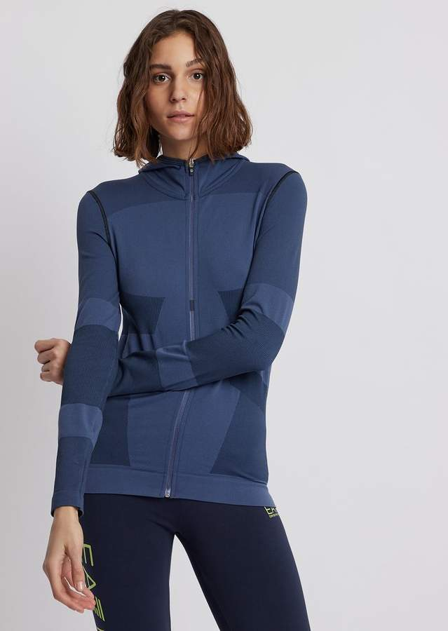 880b6ade19 Ea7 Stretch Fabric 7.0 Sweatshirt With Hood