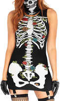 Leg Avenue Black & White Skeleton Garter Dress