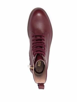 Red(V) Tassel-Detail Ankle Boots