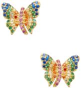 Noir Butterfly CZ Stud Earrings
